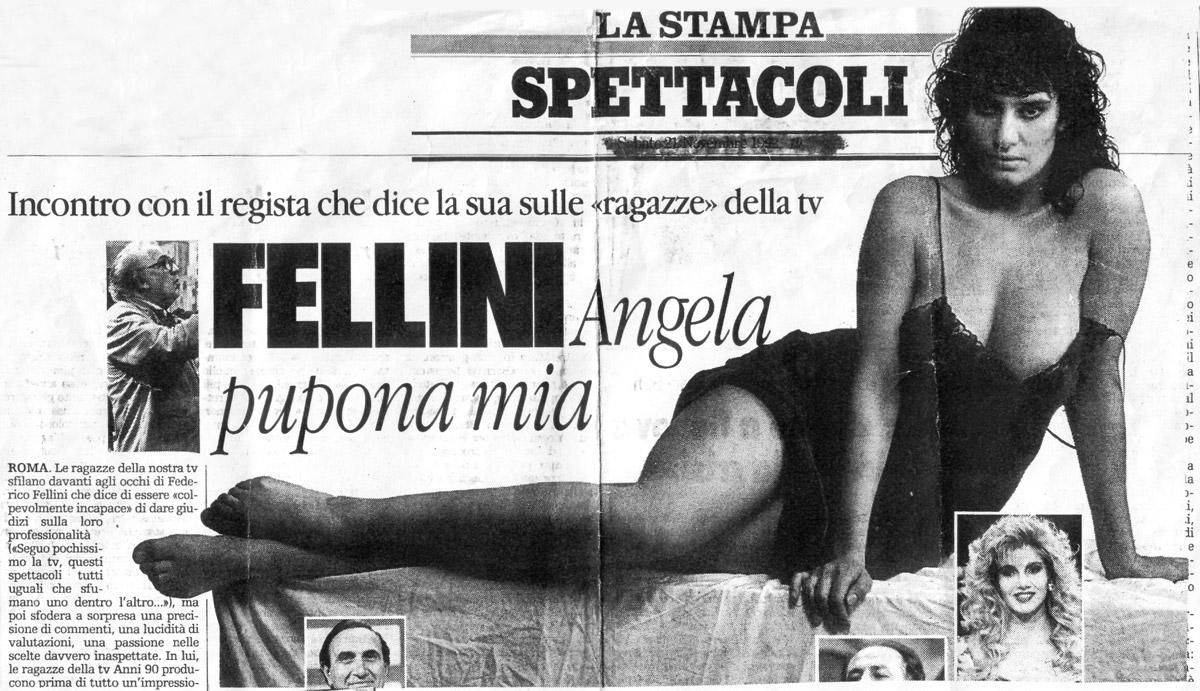 Angela Cavagna e Federico Fellini
